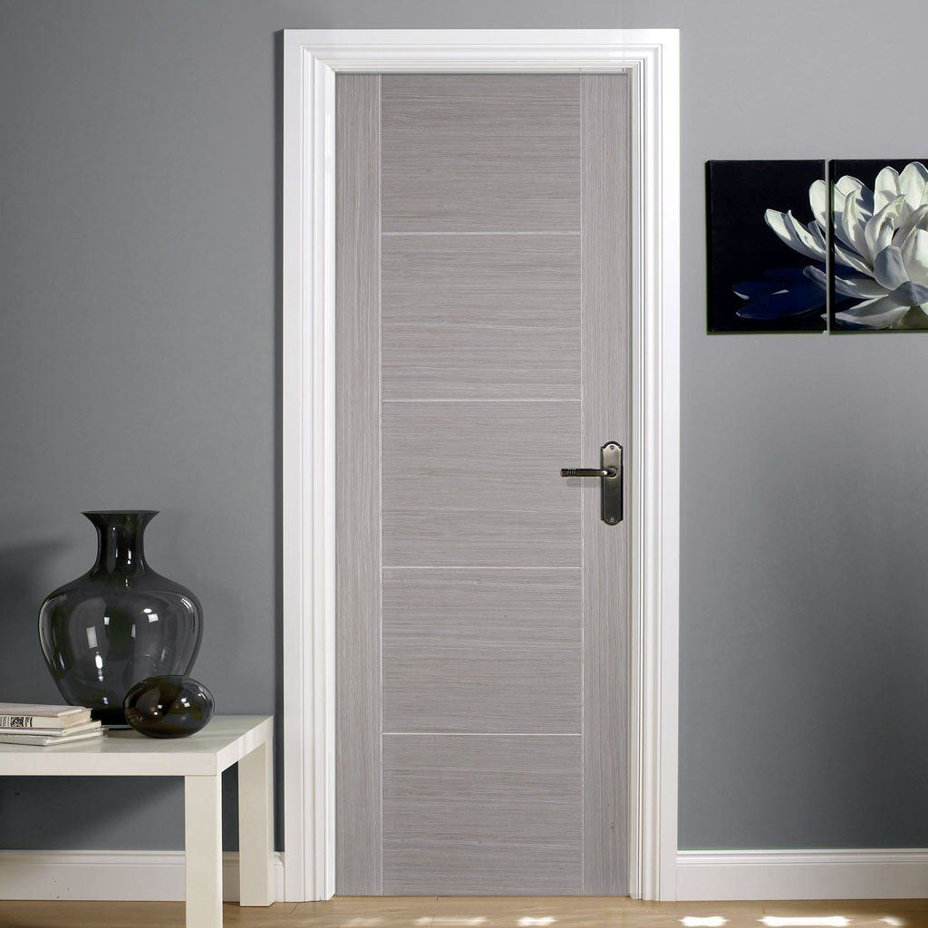 Lpd Internal Grey Vancouver Panelled Half Hour Fire Door